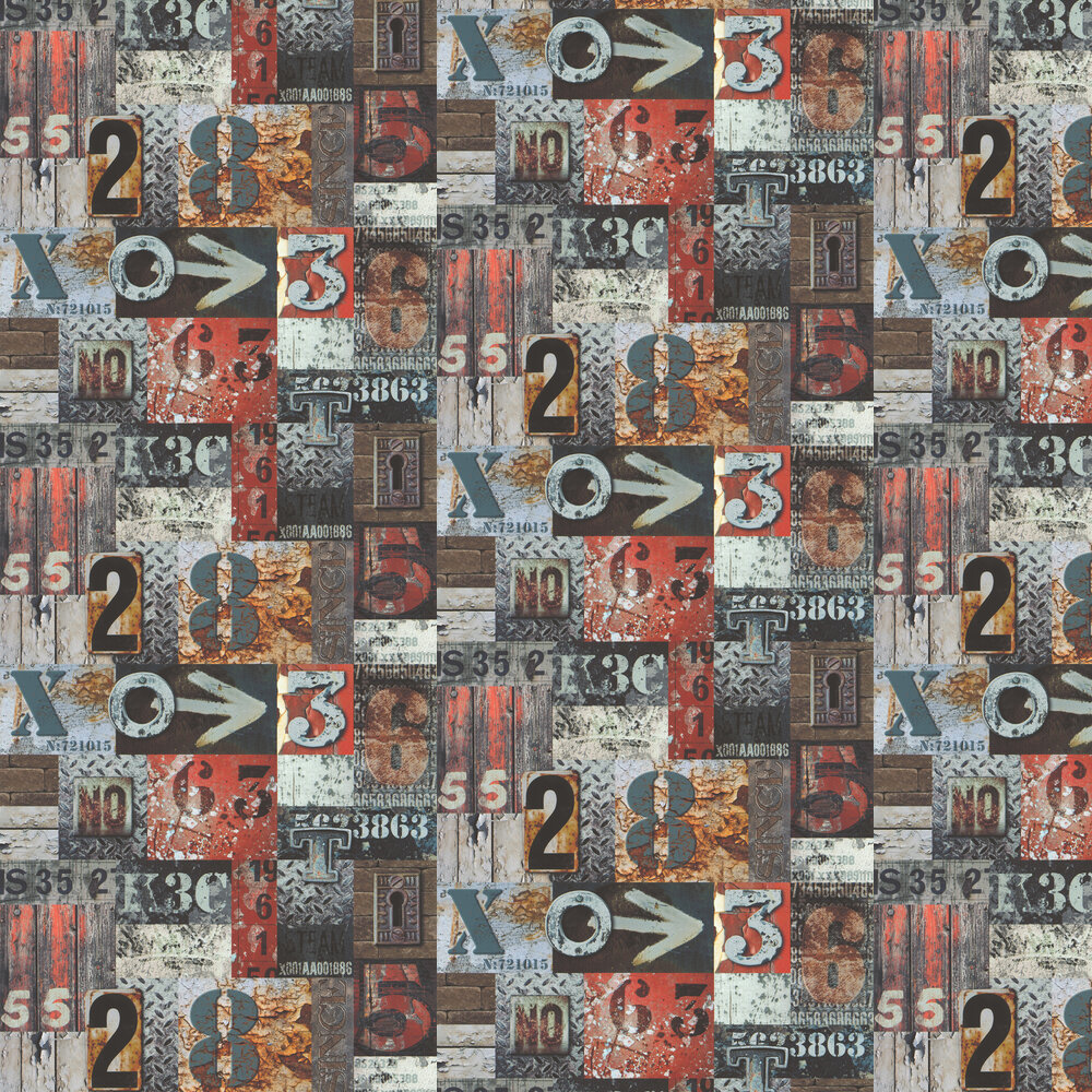 Galerie City Type Natural Wallpaper - Product code: 51171510