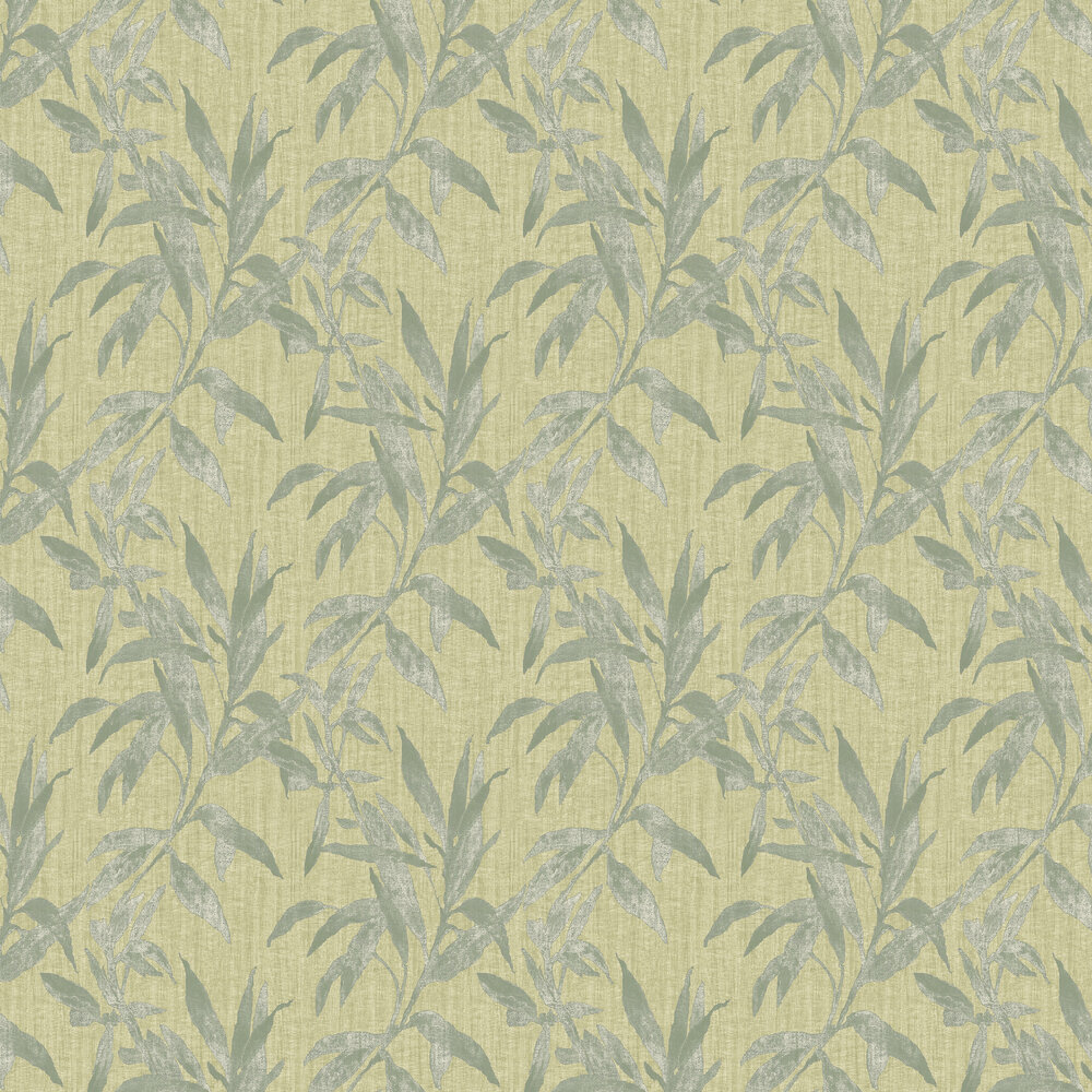 Leaves Wallpaper - Green - by Galerie