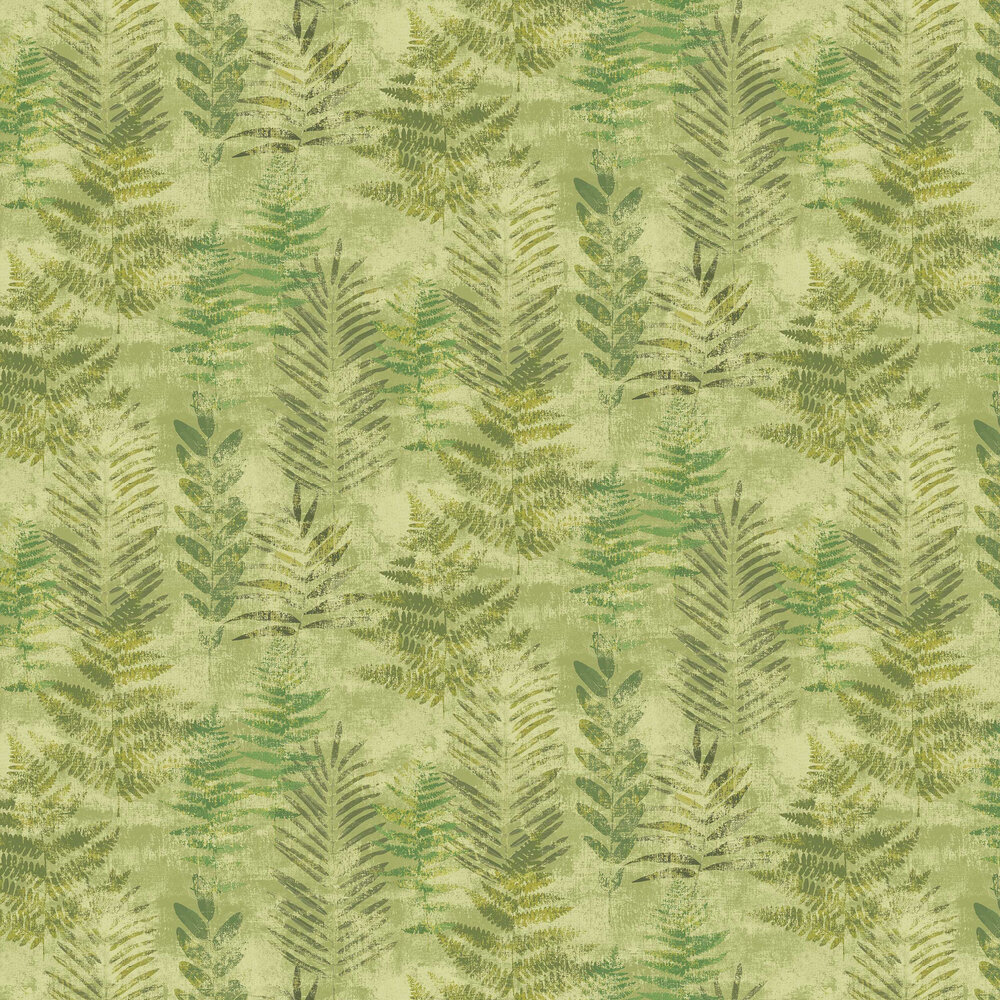 Fern Wallpaper - Light Green - by Galerie