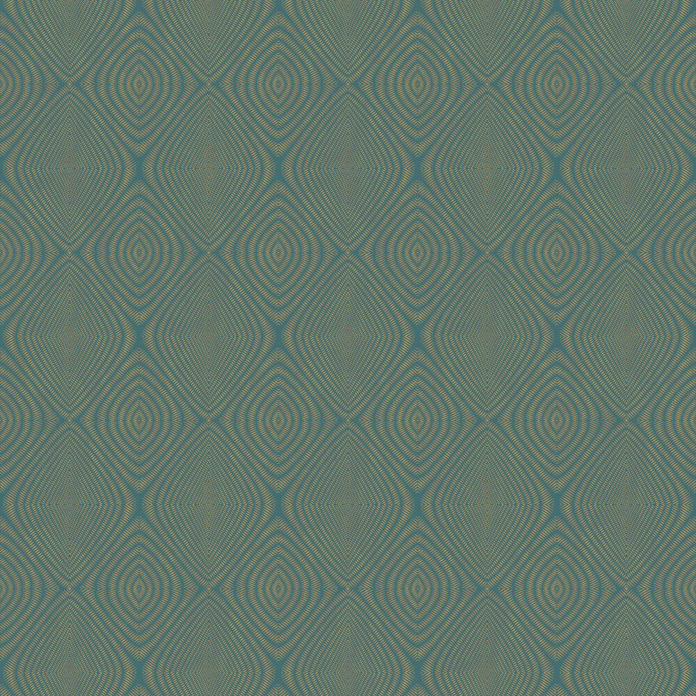 Galerie Rhombus Green / Gold Wallpaper - Product code: TP21283