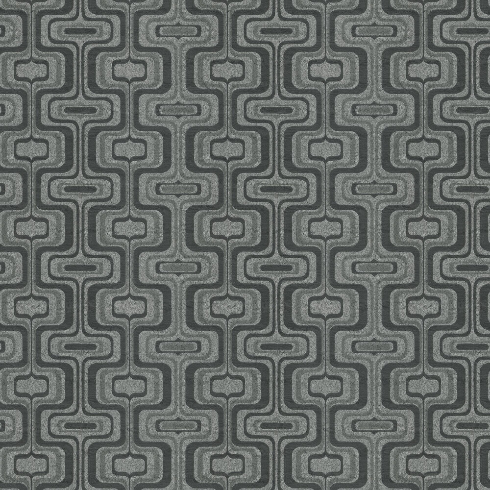 San Remo Wallpaper - Black - by Albany
