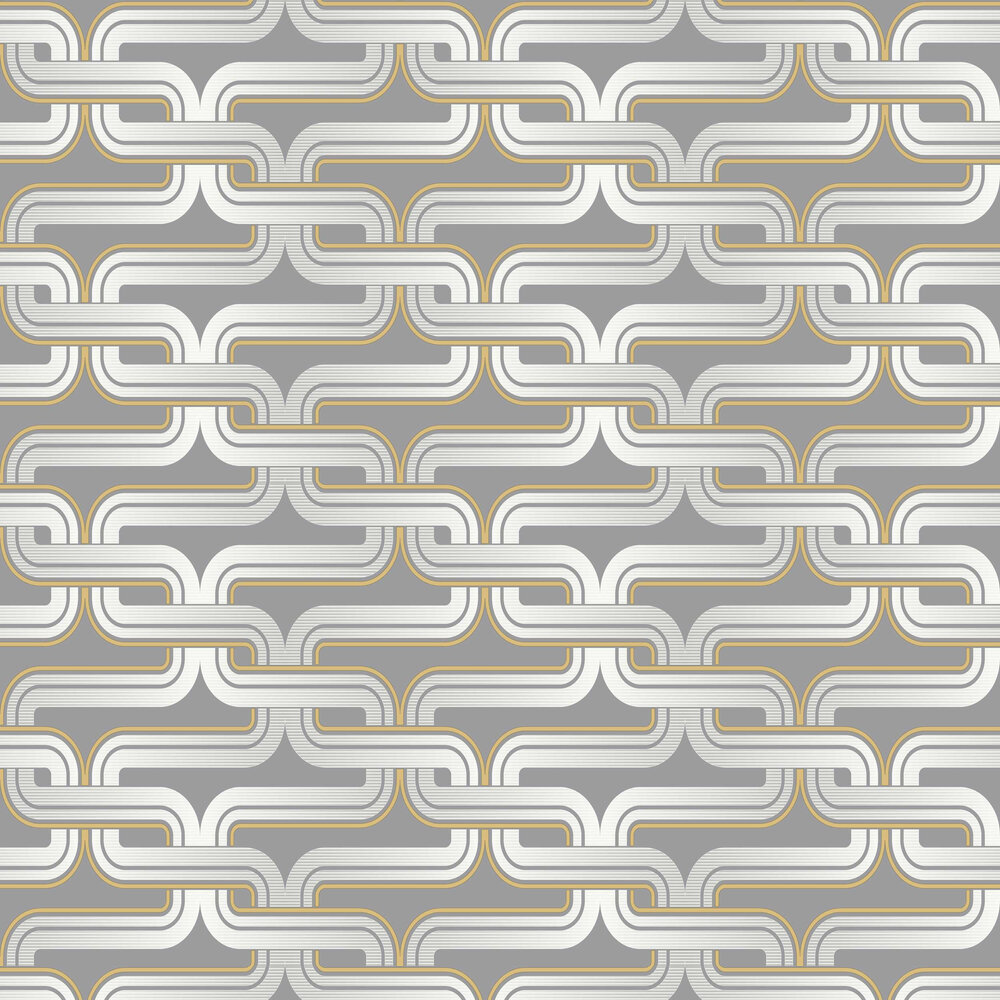 Link Wallpaper - Grey / Yellow - by Arthouse