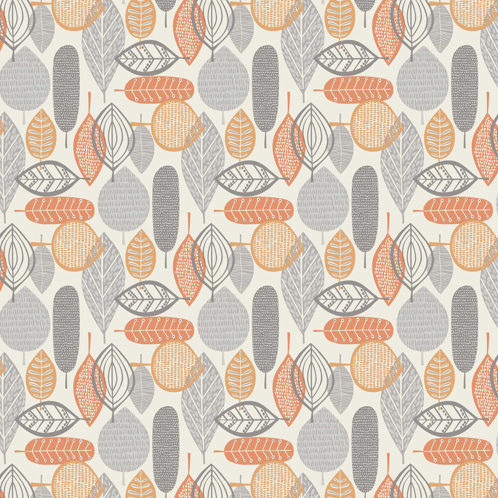 Malmo Wallpaper - Orange - by Arthouse