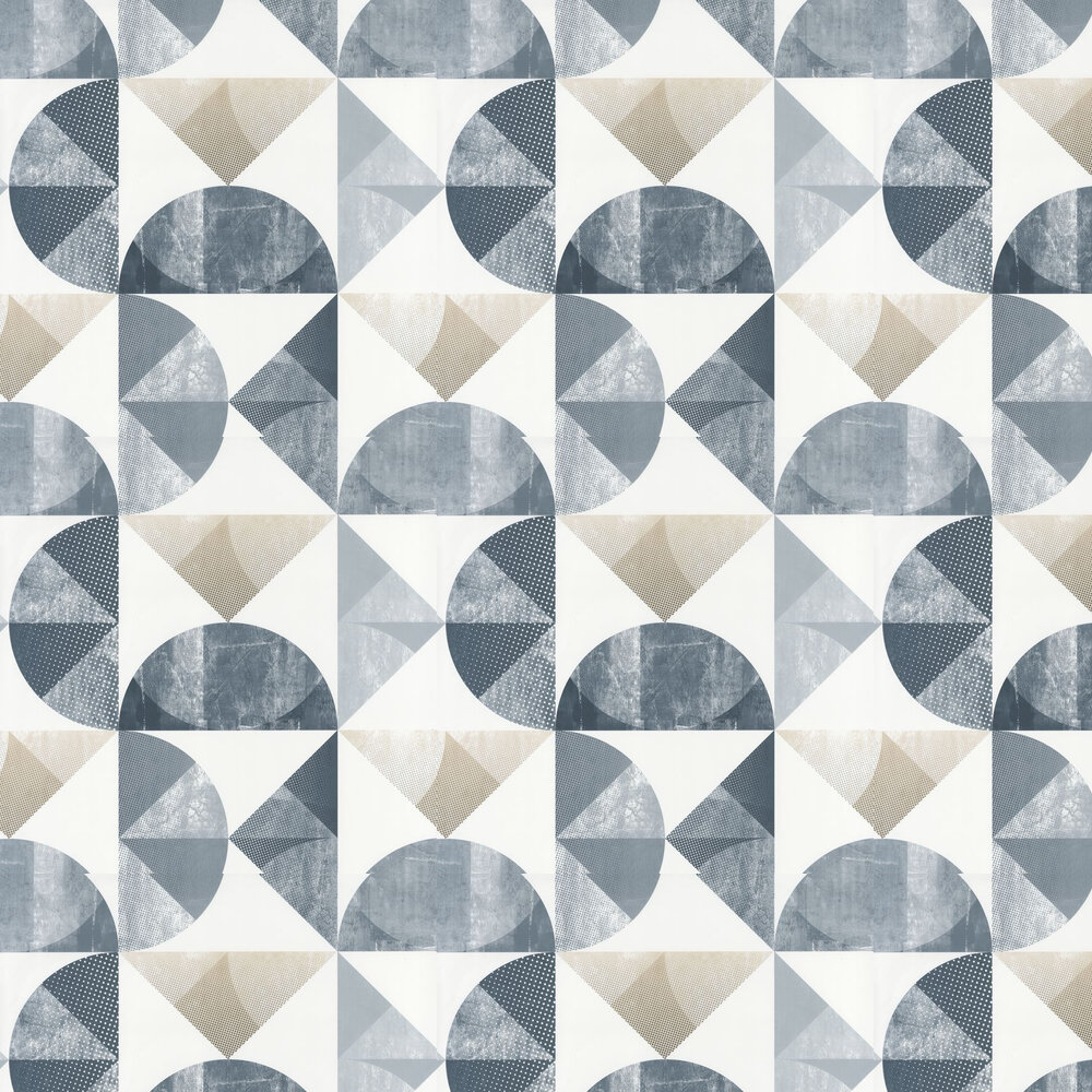 Graphic Wallpaper - Blue - by Caselio