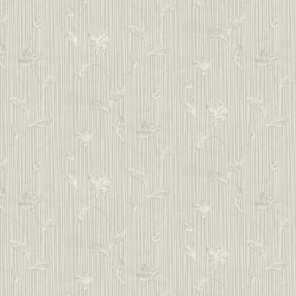 Livenza Floral Wallpaper - Pale Grey - by Albany