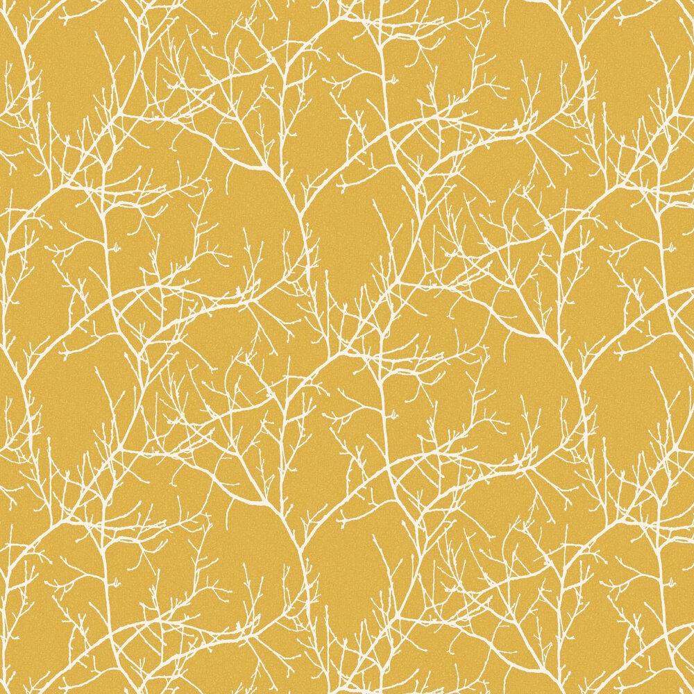 Casadeco Arbre Yellow Wallpaper - Product code: 81712130