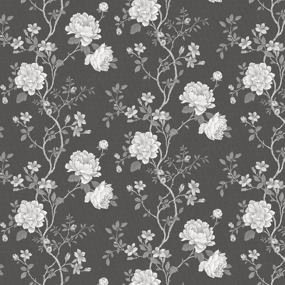 Galerie Floral Trail Charcoal Wallpaper - Product code: G45302