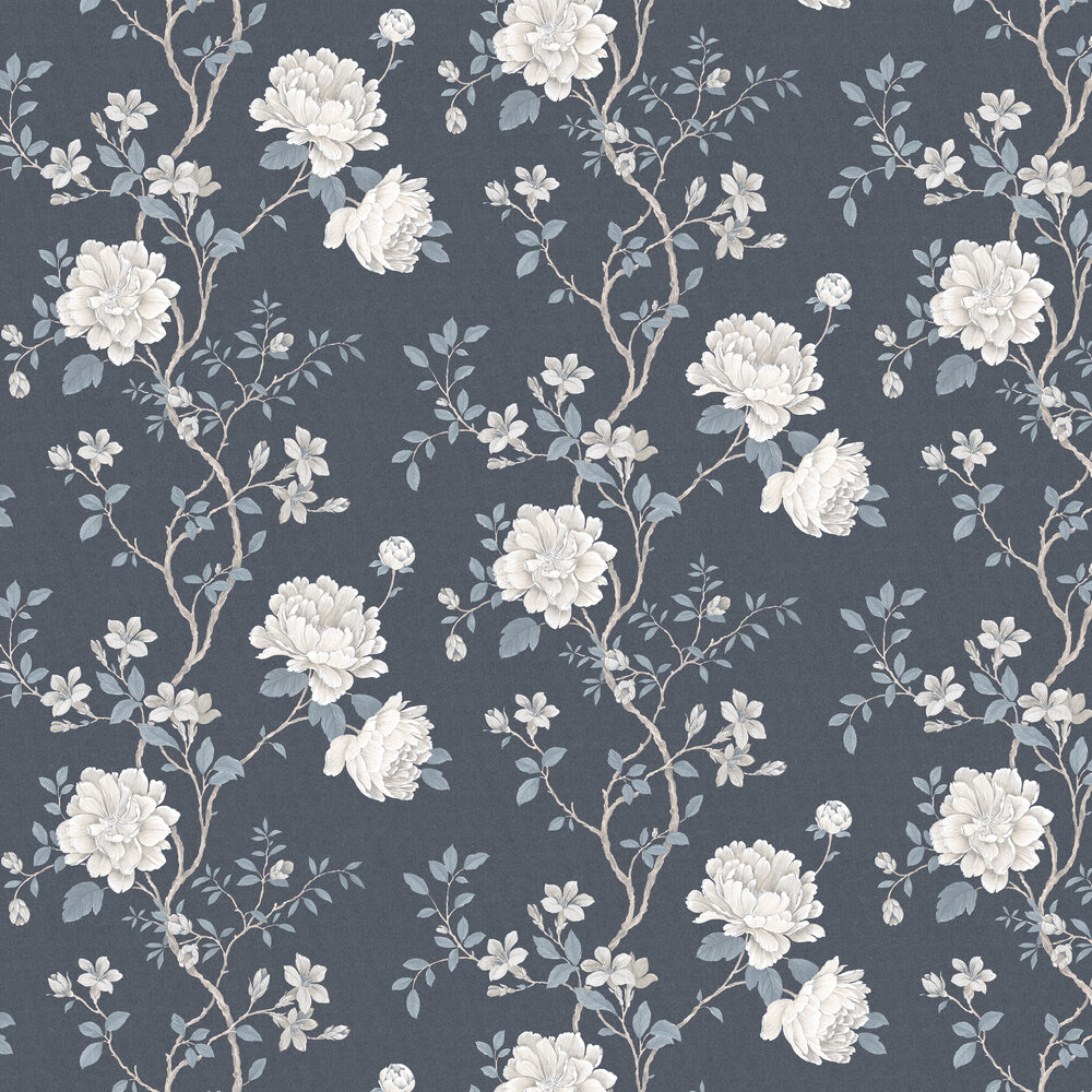 Galerie Floral Trail Indigo Wallpaper - Product code: G45303