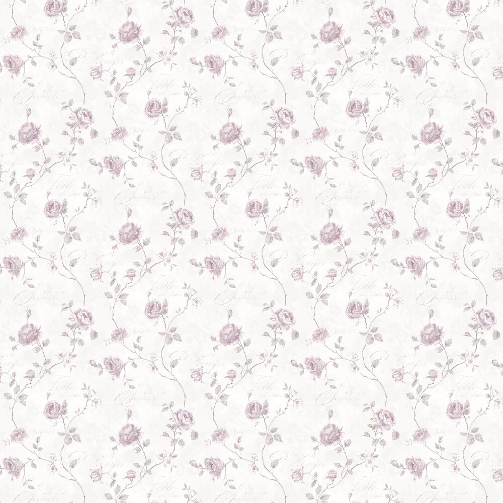 French Rose Trail Wallpaper - Light Pink - by Galerie