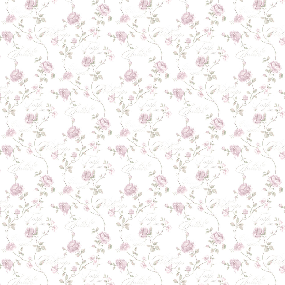 Galerie French Rose Trail Natural Wallpaper - Product code: G45329