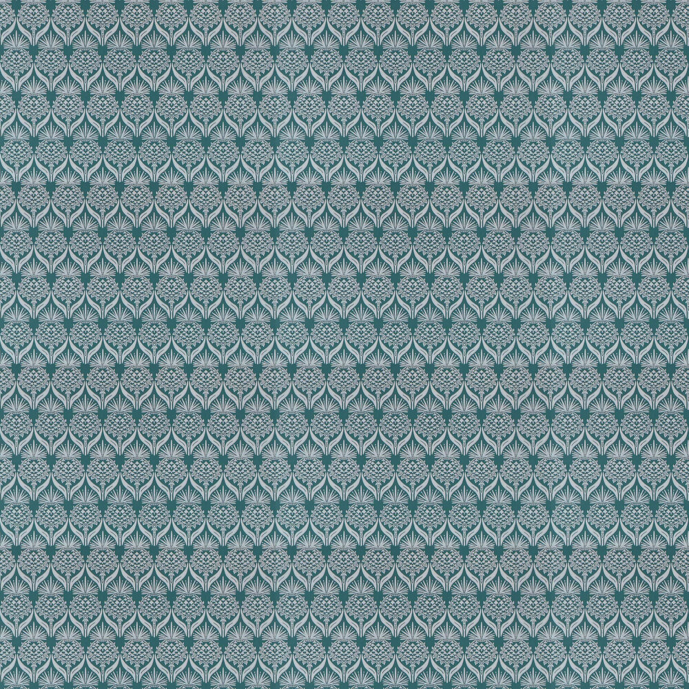 Barneby Gates Artichoke Thistle Teal Wallpaper - Product code: BG1900201