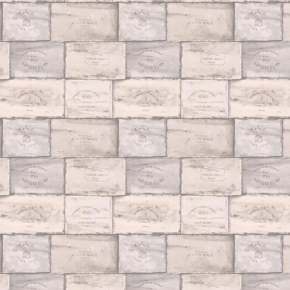 Galerie Wine Crates Warm Smokey Grey Wallpaper - Product code: CK36612