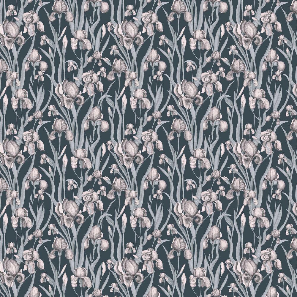 Iris Whisper Wallpaper - Blue - by Galerie