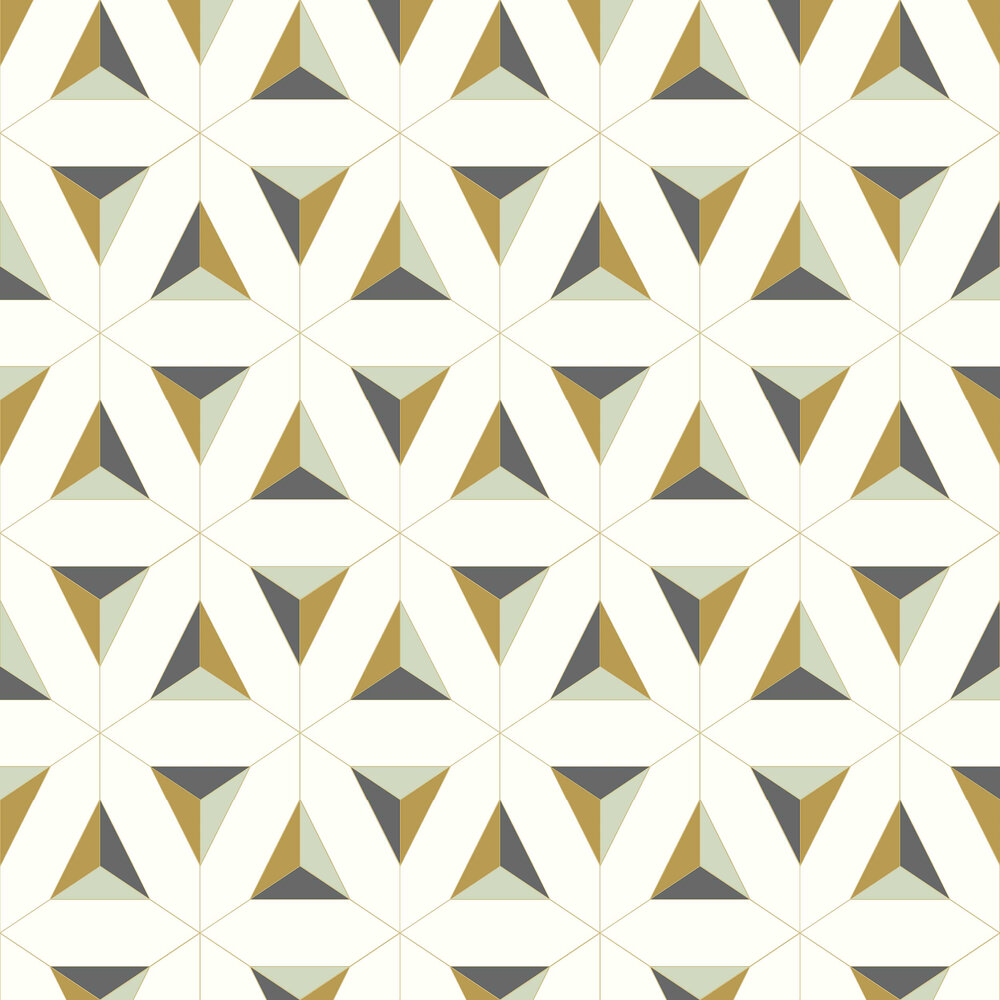 Afflatus Wallpaper - Gold - by Galerie