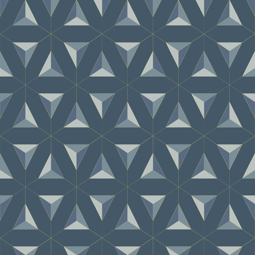 Afflatus Wallpaper - Blue - by Galerie
