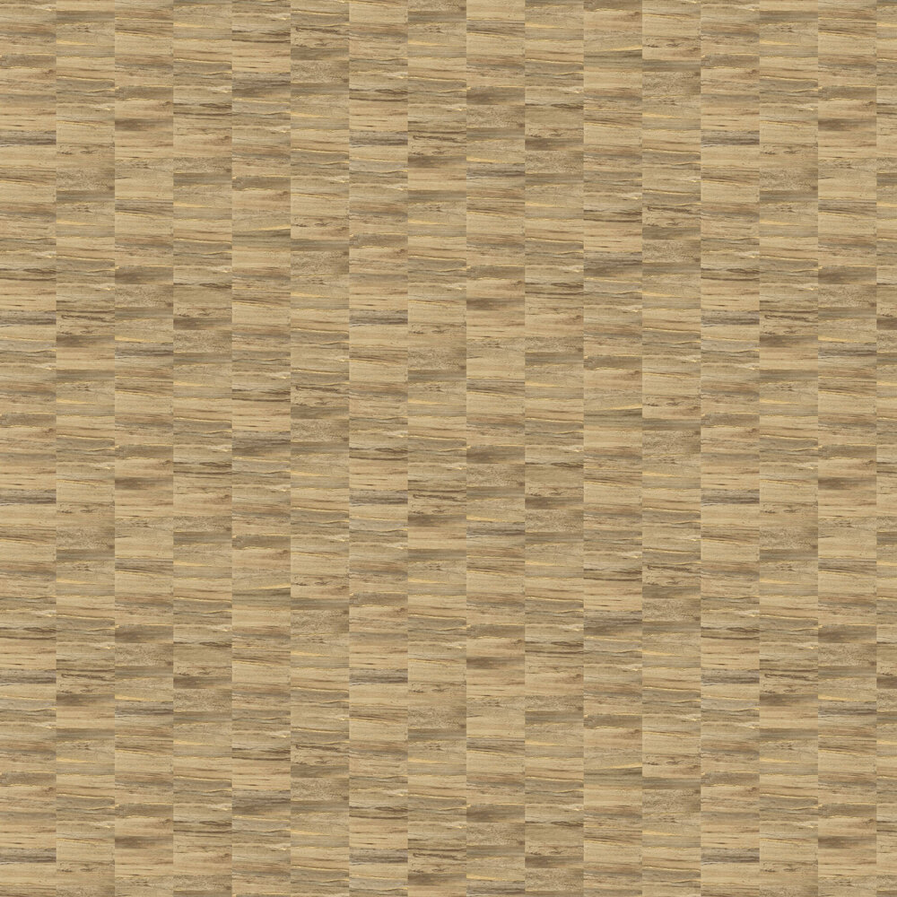 Metallic Wood Wallpaper - Natural and Gold - by Albany