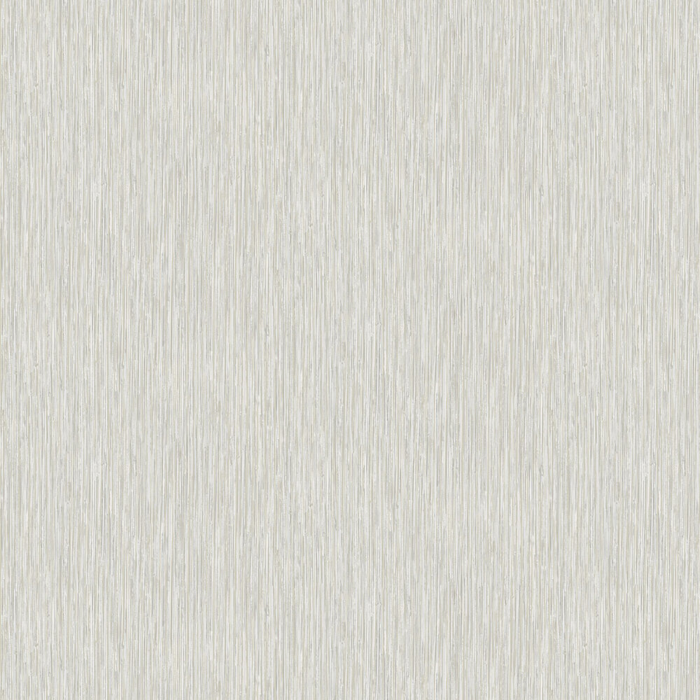 Vertical Grasscloth Effect Wallpaper - Silver and Gold - by Albany