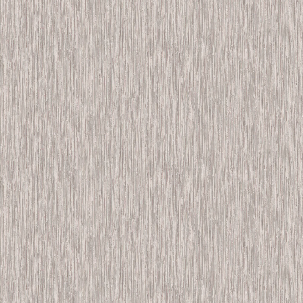 Vertical Grasscloth Effect Wallpaper - Rose Gold and Silver - by Albany