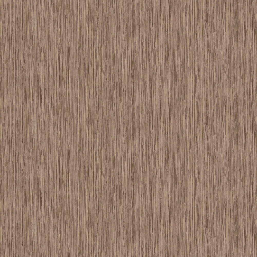 Vertical Grasscloth Effect Wallpaper - Copper and Gold - by Albany