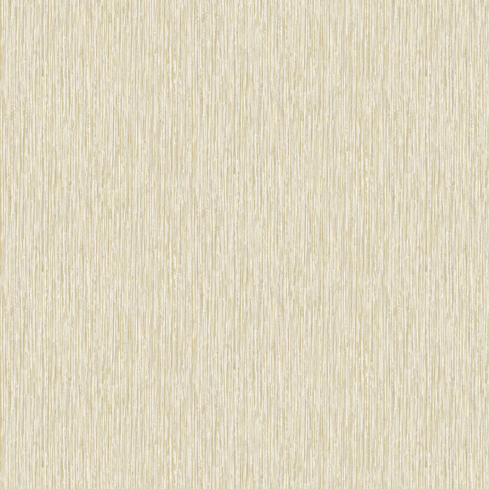 Vertical Grasscloth Effect Wallpaper - White and Gold - by Albany
