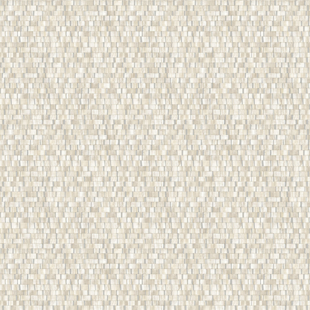 Small Metallic Wood Wallpaper - Soft Natural and Silver - by Albany
