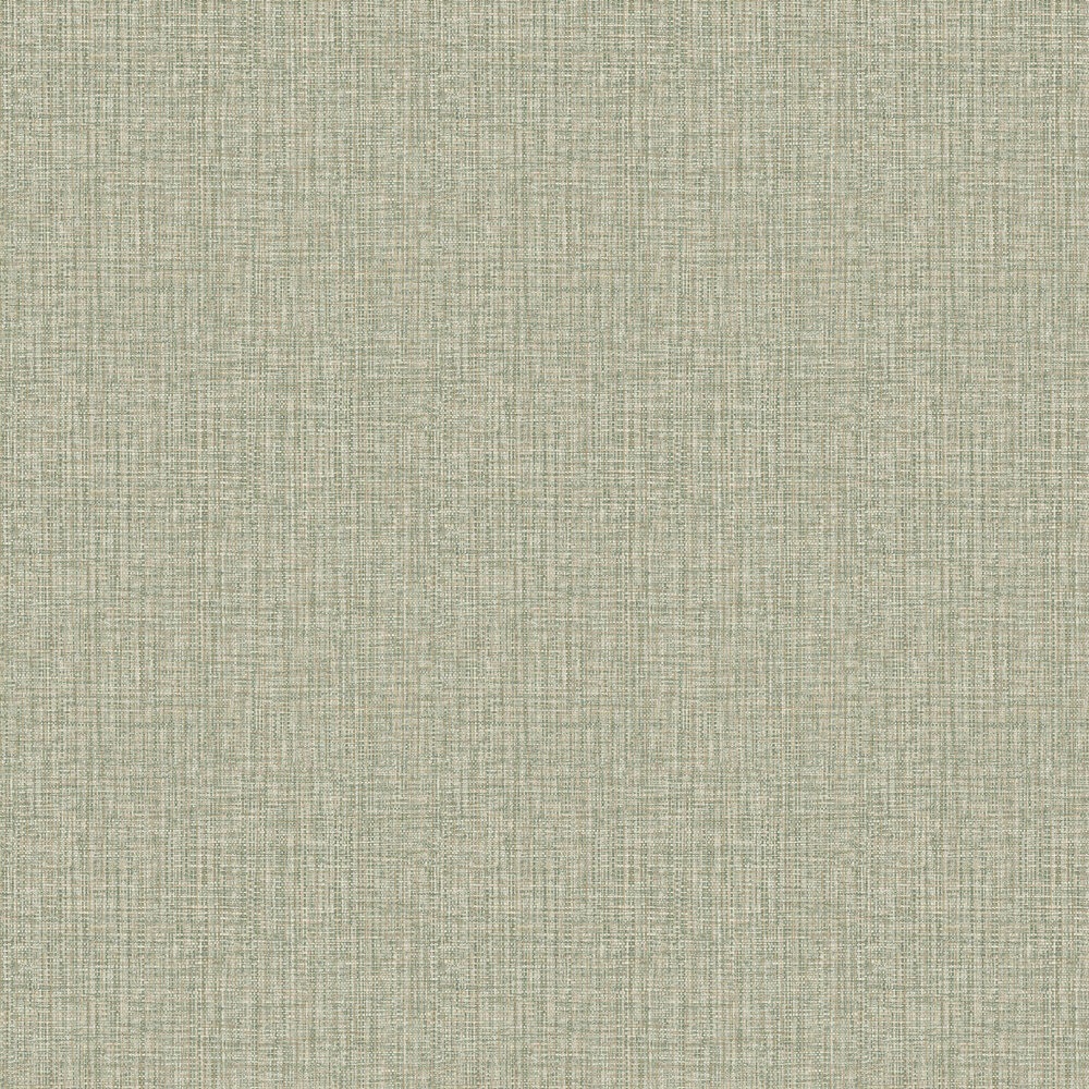Rattan Effect Wallpaper - Green - by Albany