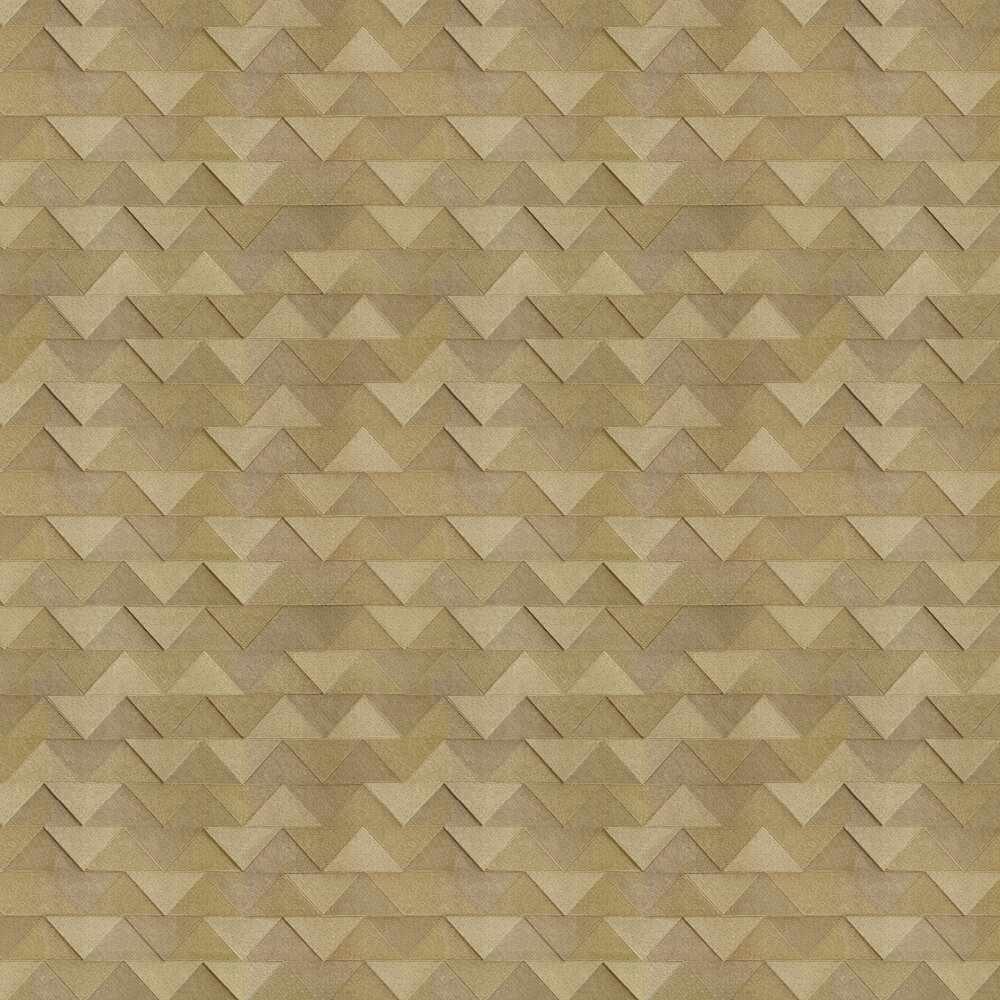 Triangle Wallpaper - Gold - by Albany