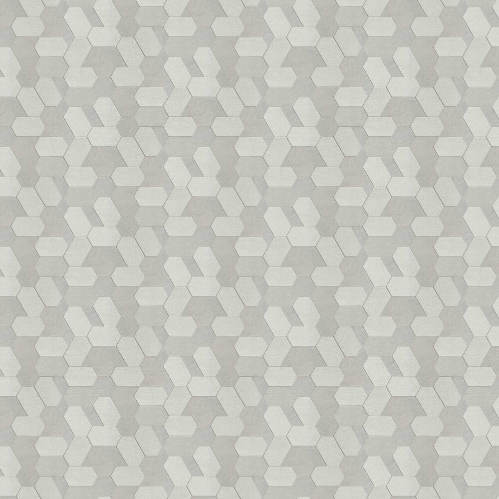 Polygon Wallpaper - Grey - by Albany