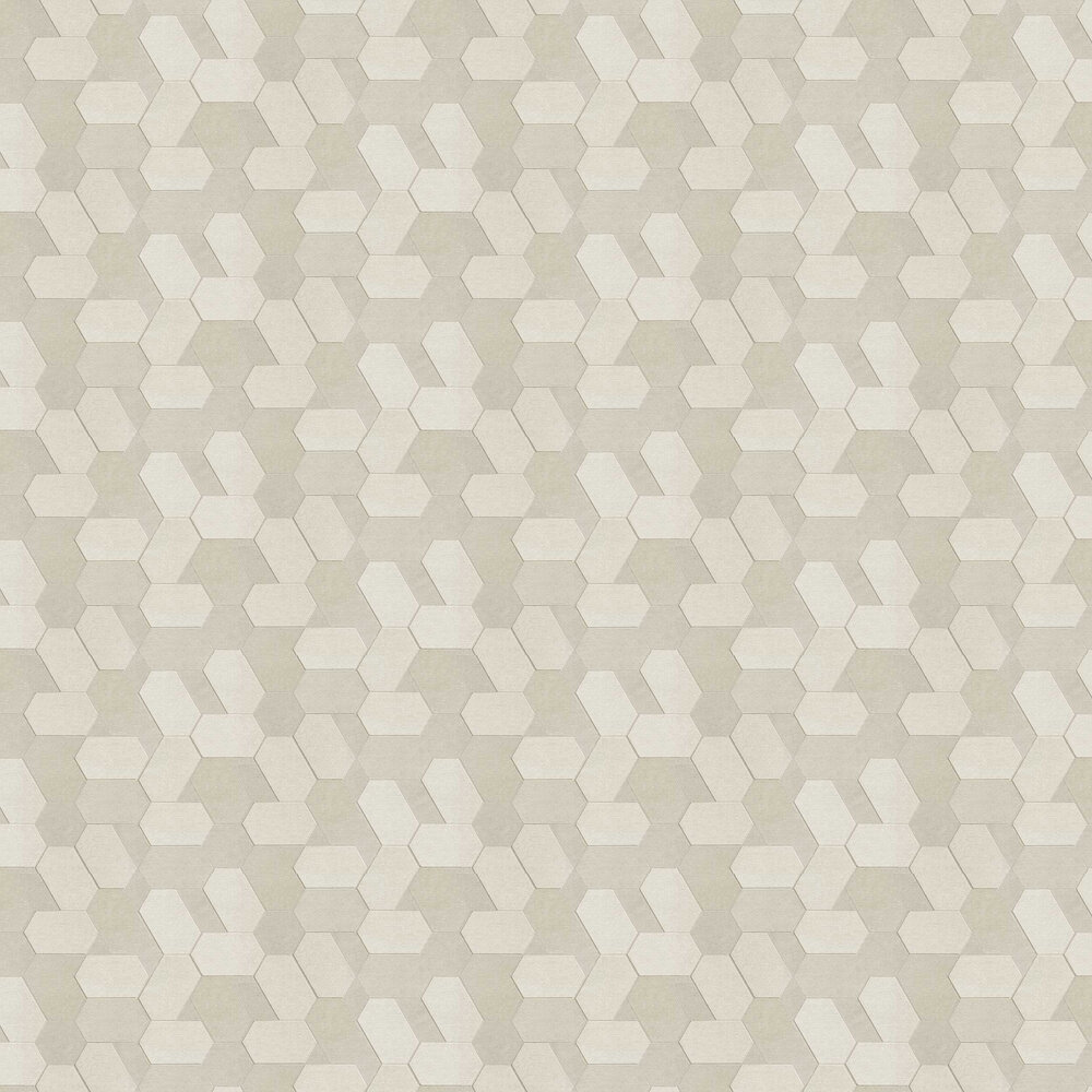 Polygon Wallpaper - Beige - by Albany