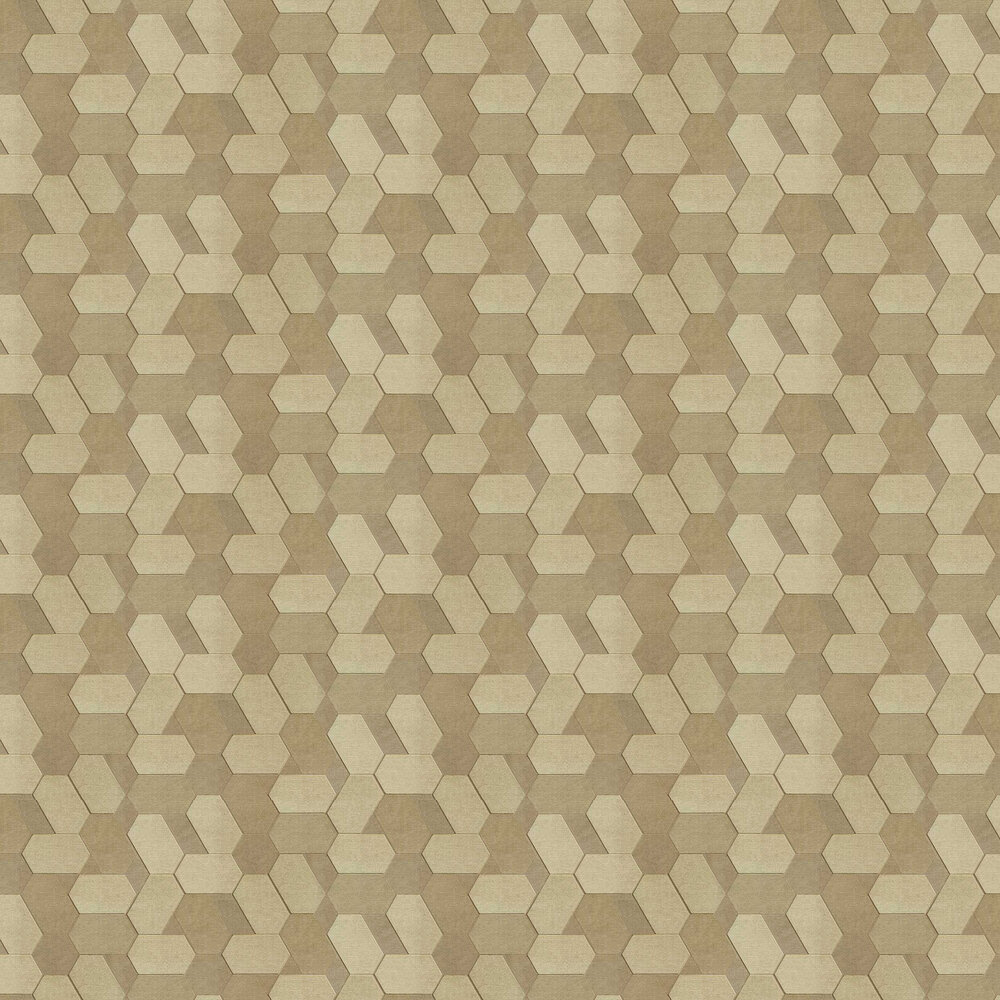 Polygon Wallpaper - Gold - by Albany