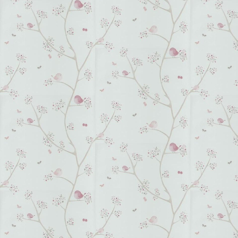 Casadeco Bird Tree Pink Wallpaper - Product code: 29834318