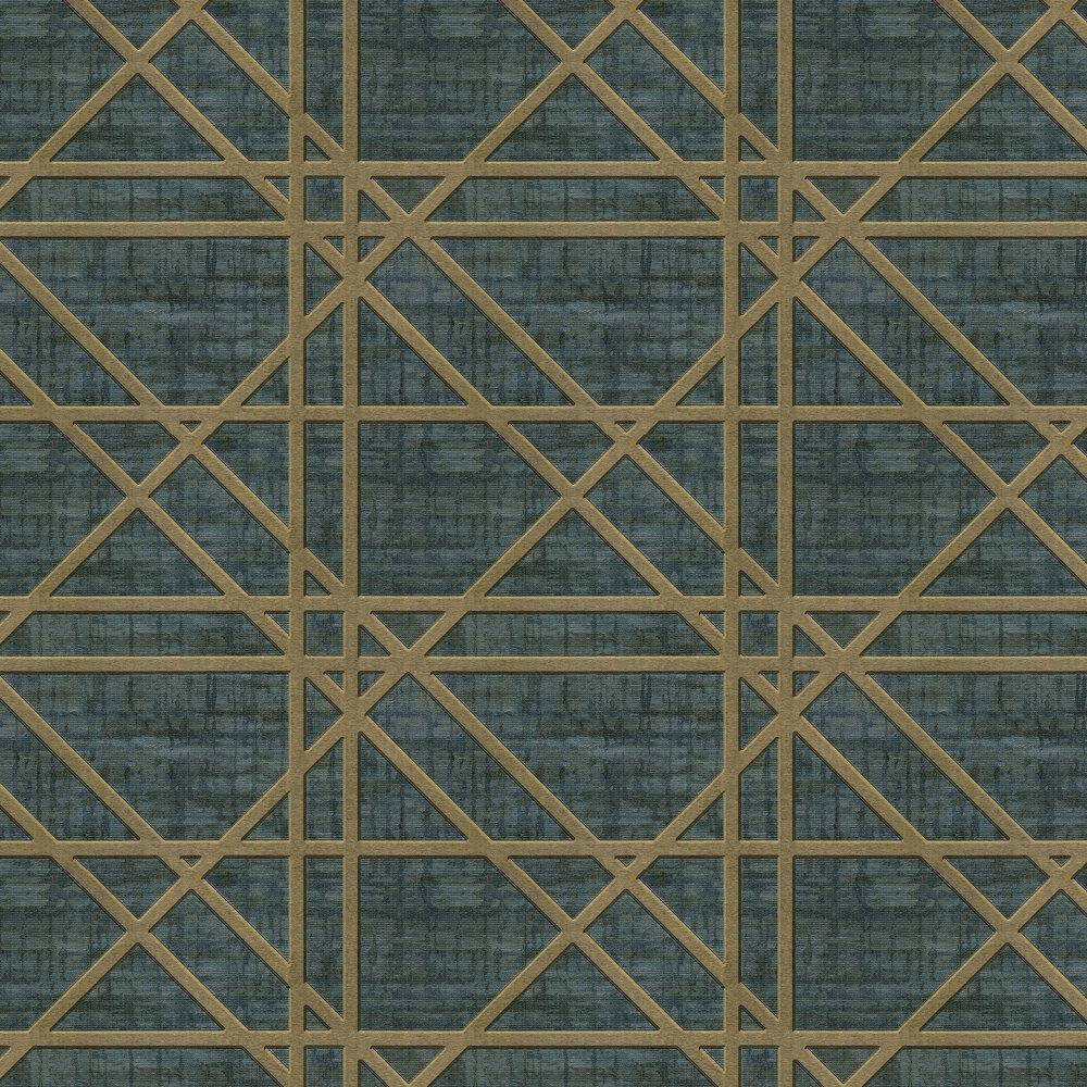 Facade Wallpaper - Dark Green - by Albany