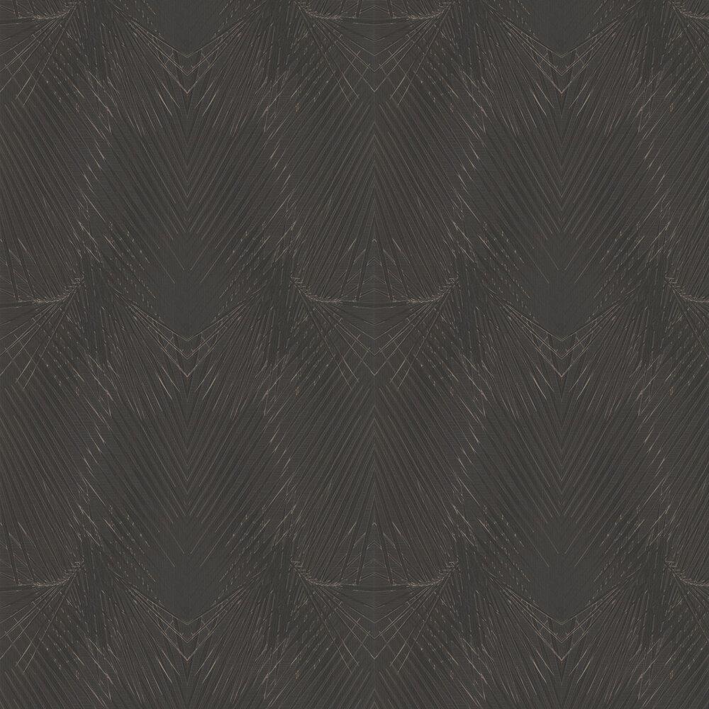 Geometric Palm Wallpaper - Black - by Roberto Cavalli