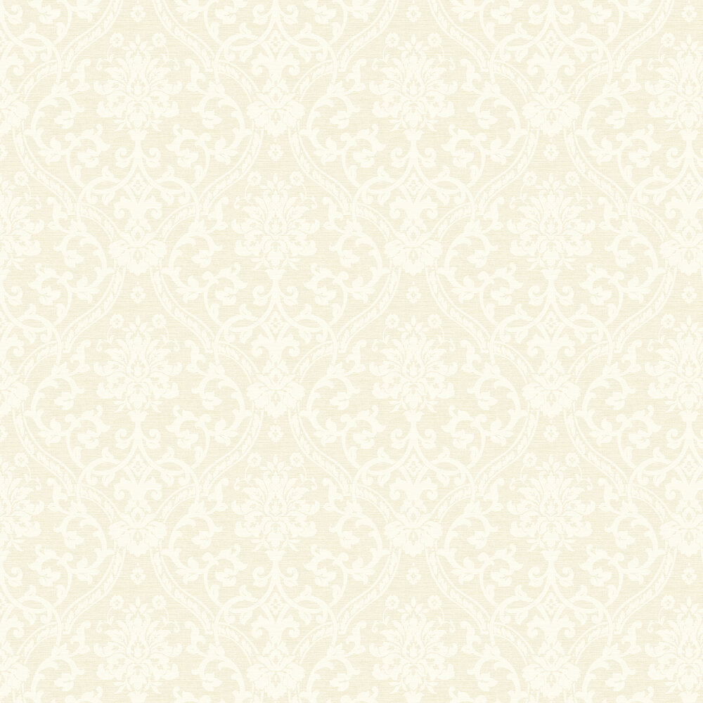 Damask Wallpaper - Cream - by Albany