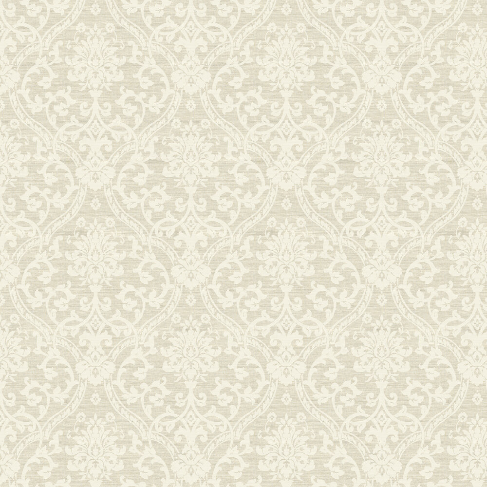 Damask Wallpaper - Natural - by Albany
