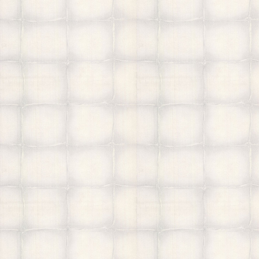 Roberto Cavalli Leather Patchwork Grey White Wallpaper - Product code: 17029