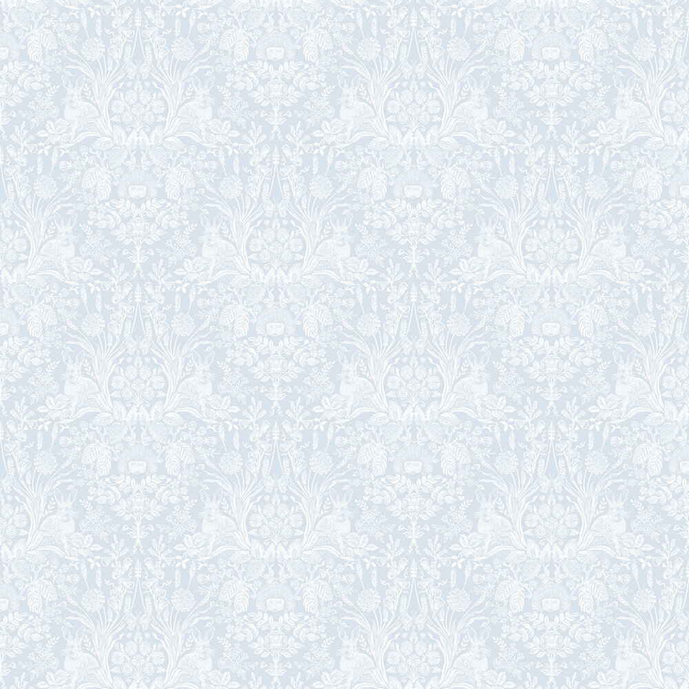 Bexley Wallpaper - Soft Blue - by Albany