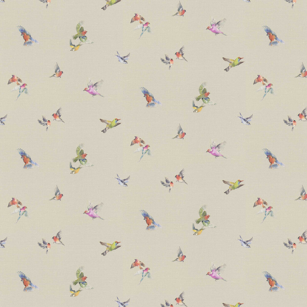 Garden Birds Wallpaper - Natural - by Albany
