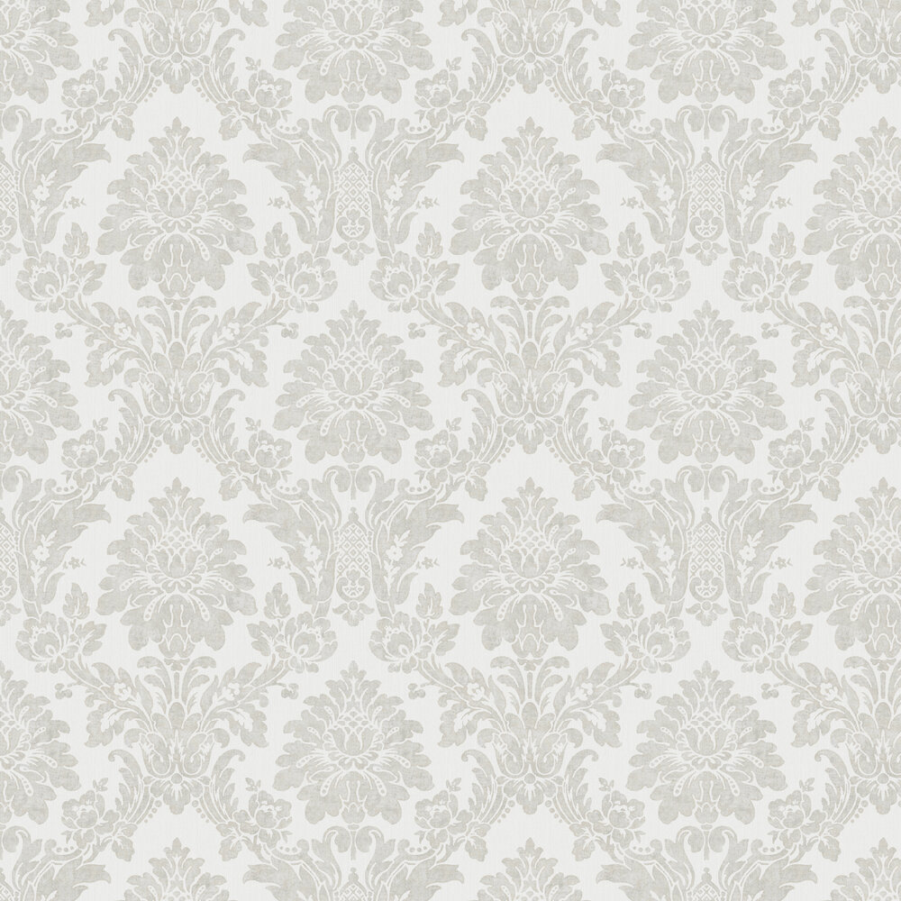 Albany String Damask Grey / Silver Wallpaper - Product code: 25023