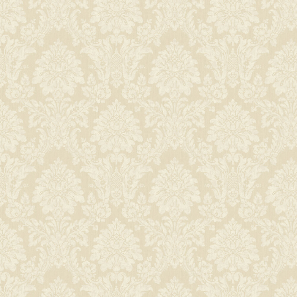String Damask Wallpaper - Gold - by Albany