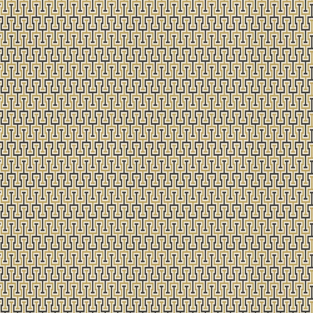 Albany Vanity Key Gold / Black Wallpaper - Product code: 525328