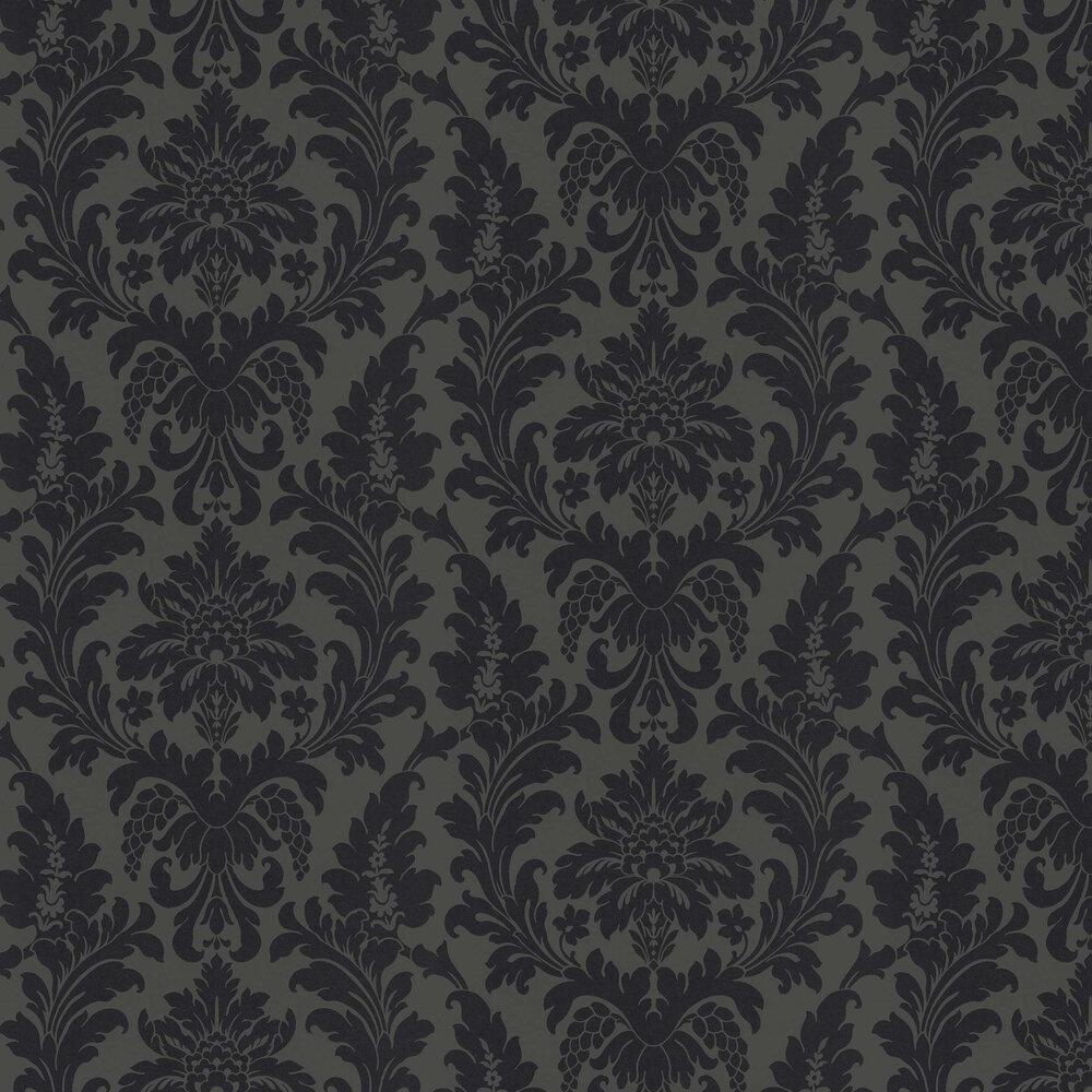 Damask Wallpaper - Black - by Albany