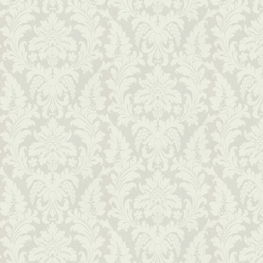 Damask Wallpaper - Opal White - by Albany