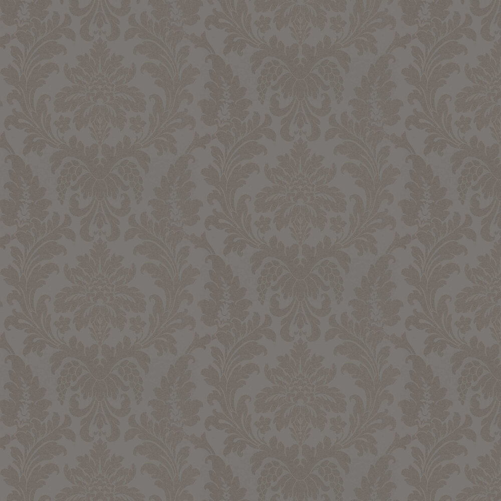 Damask Wallpaper - Taupe - by Albany