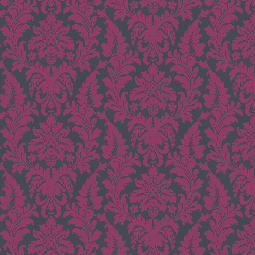 Damask Wallpaper - Pink / Blue - by Albany