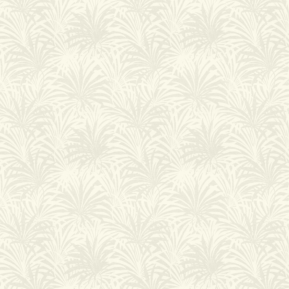 Palm Leaf Wallpaper - Opal White - by Albany