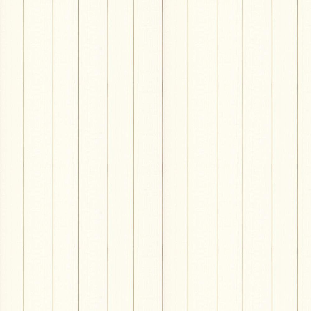Greek Key Stripe Wallpaper - White - by Versace