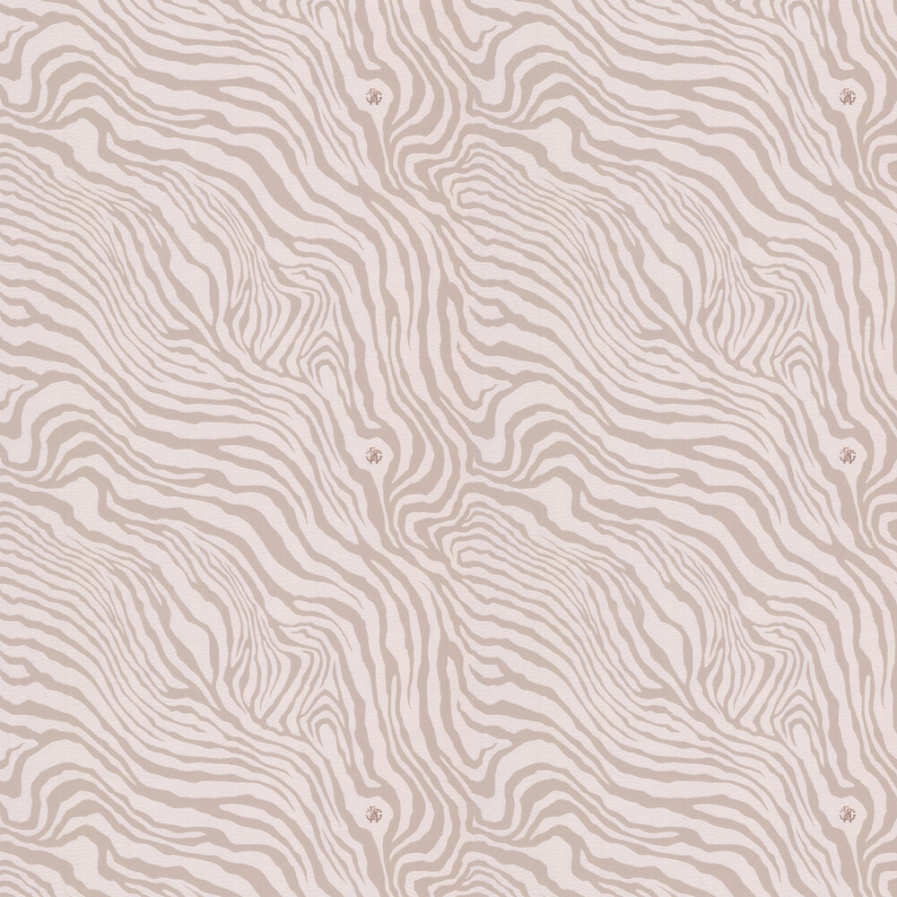 Tiger Print Wallpaper - Taupe - by Roberto Cavalli