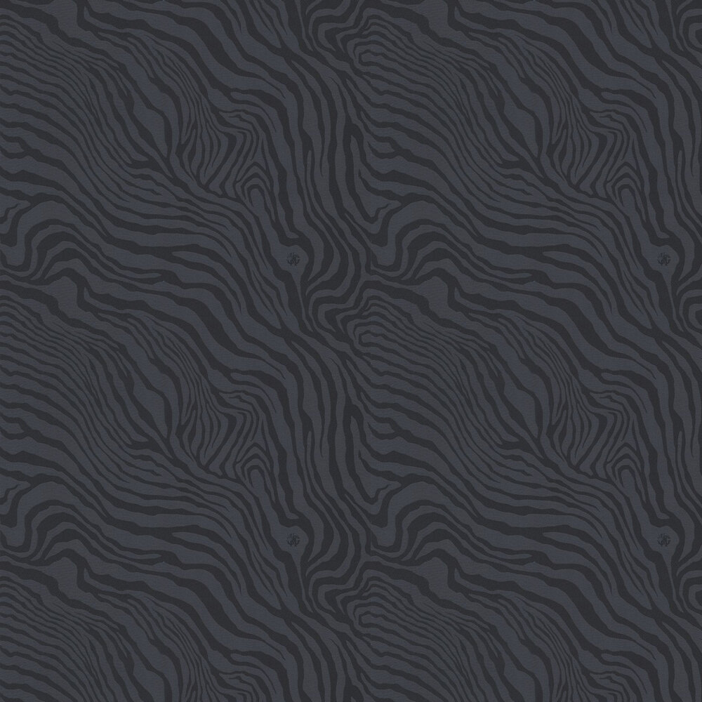 Tiger Print Wallpaper - Black - by Roberto Cavalli