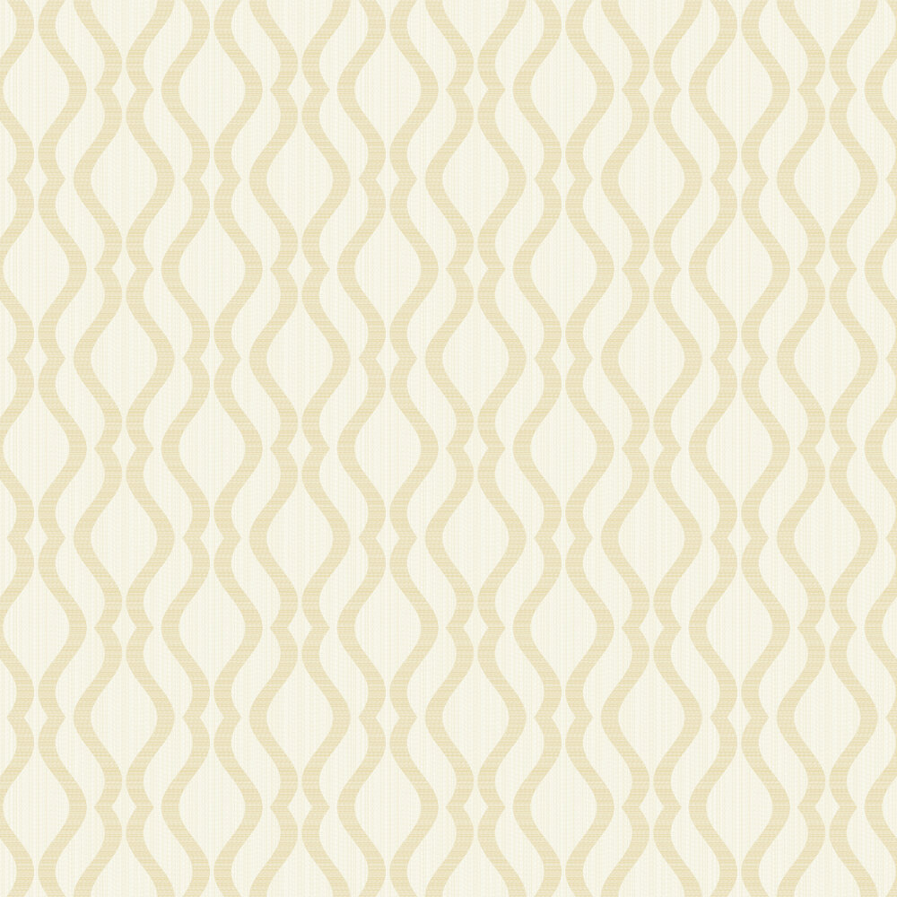 Broken String Geometric Wallpaper - White / Gold - by Albany